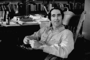 Author, Philip Roth, drinking a glass of beer as he pauses during work on manuscript.  (Photo by Bob Peterson//Time Life Pictures/Getty Images)